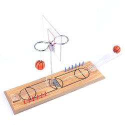 2 het Ontspruiten van het Basketbal van de Desktop van de speler het Houten MiniStuk speelgoed van het Spel, Spel van het Basketbal van het Tafelblad het Mini