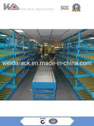 Cremagliera di flusso per gravità con i rulli d'acciaio per memoria del magazzino