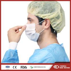 3ply jetables Ear-Loop Single-Use protection protéger l'hôpital non tissé Masque facial médicale et chirurgicale des photos
