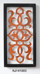 3D Stukken van de Decoratie van het Metaal van de Muur van de Kunst van de Rechthoek