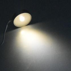 المبيت الأبيض 6000K D32mm 1W 12 فولت Slim Cabinet Spotlight 8 مم مصباح LED صغير للسقف
