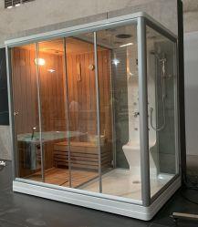 881 빨강 삼목 Sauna와 결합되는 증기 샤워