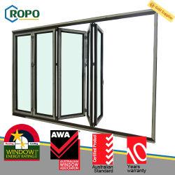 Perfil de plástico reforzado Ropo UPVC plegable de Diseño de puertas y ventanas