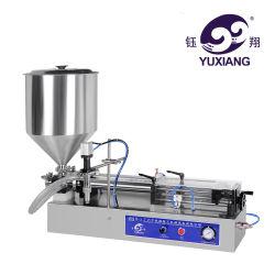 압축 공기를 넣은 작은 복용량 액체 또는 크림 충전물 기계 또는 충전물