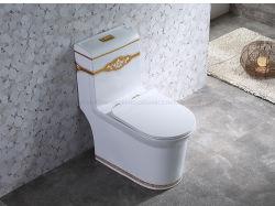 Sanitarios de Cerámica de Oriente Medio Baño, Cuarto de baño Wc de una pieza de lavado baño árabe Inodoro Precio