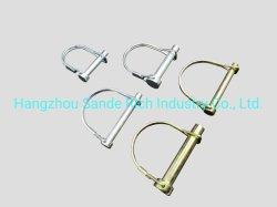 3/8X2-1/2 인치 안전 아연 코팅 둥근 Linch 전선 잠금 핀 도미퍼 핀 D 링 핀