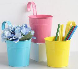 Подвешенные Flower Pots с большой металлической утюг ковш цветочный сад держателя балкон сеялки