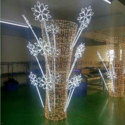 Для использования вне помещений Рождество веревки мотивы для уличных фонарей полюс украшения