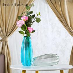 Preiswerte und feine Farben-Glasvasen-/Glass-Blumen-Vase für Hochzeits-Dekoration