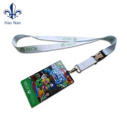 Хорошее соотношение цена PU держатель карточки шейный шнурок из полиэфирного волокна с металлическим крюком
