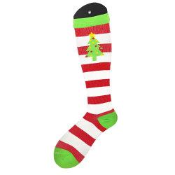Árbol de Navidad de los calcetines de compresión de las mujeres y hombres medias de compresión graduada (8-15 mmHg) mejor para el ciclismo, correr, viajes, el embarazo, el vuelo