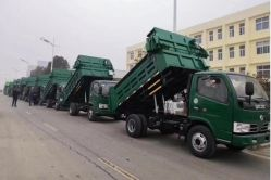 Usado Dongfeng usado 4X2 6 Rodas/Despejo Dumper/Dumping/caixa de carga/Tipping Veículo de Carga 10T