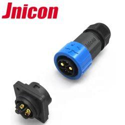 Jnicon 방수 2+1+5pin 50A 15A 5A 힘 데이터 리튬 건전지 IP67는 연결관을 방수 처리한다
