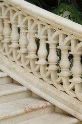 中国の白い花こう岩階段Balusterの大理石の柵の手すりのBaluster