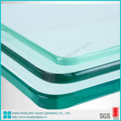 Different Edgesの超Clear Low Iron Light Color Tempered Flat Glass Clear Tempered Glass