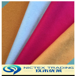 Tessuto del velluto di colore di Plian delle lane, tessuto mescolato poliestere delle lane