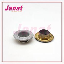 Contre-batteur personnalisé logo ovale en laiton Chaussures oeillets en métal