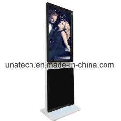 Indoor College-de-chaussée debout 42pouces LCD Affichage de rotation de l'écran vidéo Kiosque numérique renouvelable
