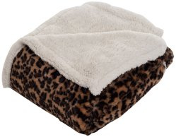 100 % polyester Manufactory Animal Print Pattern Plaid confortable et chaud Sherpa Couverture polaire PV
