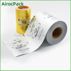 Matériel d'aluminium laminée et utilisation industrielle des aliments pour la margarine à l'emballage