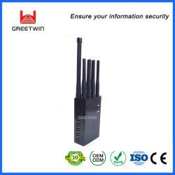 8アンテナ2g 3G 4G Lte手持ち型の黒い携帯電話GPS WiFiのシグナルの妨害機(GW-JN8)