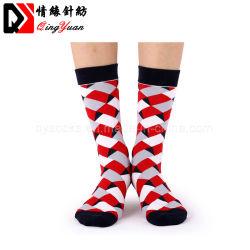 Malha de algodão personalizada de Casamento Casual Natal coloridas meias de impressão 3D de negócios