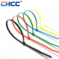 Kundenspezifische Plastikreißverschluss-Gleichheit-selbstsichernde Nylonkabelbinder bunt