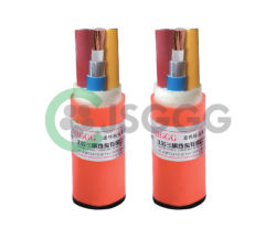 Painéis metálicos com isolamento mineral flexíveis cabos blindados