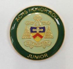 Laiton de haute qualité CCSS Honour Roll Junior et 8e année de l'épinglette