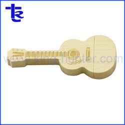 Hot de vendre des instruments de musique Guitar disque Flash USB en bois Cadeaux