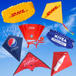 Personalizar/OEM deporte al aire libre promoción/publicidad/elemento de promoción del logotipo de regalo para la venta de juguetes de Kite/Navidad