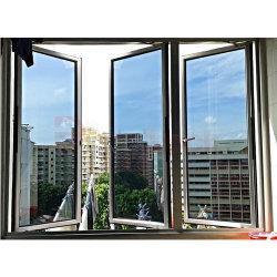 Amerikanisches Art-Aluminiumrahmen-Doppelt-Glasflügelfenster-Fenster