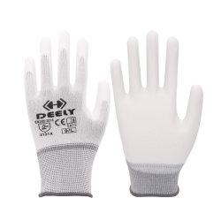 PU Polyurethan Palm Fit Beschichtung Polyester/Nylon Strickarbeit Sicherheitshandschuhe