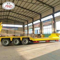 Production professionnelle 2 3 essieux transport de conteneurs de remorque à plat