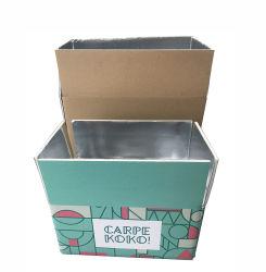 Настраиваемый логотип печати из переработанных гофрированный картон свежей холодной водонепроницаемый алюминиевой фольгой и замороженные продукты доставка подарков бумаги упаковка упаковка картонная коробка