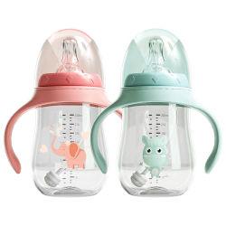卸し売り赤ん坊の広カリバーの供給のびん、子供の水コップ、わらのコップ、二重目的の供給のびん、プラスチック Anti 落下および反チョークの水コップ