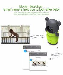 Het leuke Beeldverhaal draagt IP van de Monitor van de Baby WiFi van de Zak Digitale Draadloze Camera voor Ios de Androïde Intercom van Nightvision van de Steun Smartphone