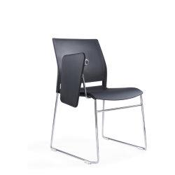 حديث مؤتمر مكتب كرسي تثبيت مع [وريتينغ تبل بوأرد], بلاستيكيّة تنفيذيّ تدريب كرسي تثبيت لأنّ مدرسة, منزل, [ميتينغ رووم], أسود