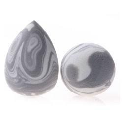 De marmeren Nieuwe Schoonheidsmiddelen van de Sponsen van de Make-up van de Aankomst latex-Vrije puffen Uw Eigen Merk