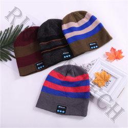 Tw5 Stripe draadloze hoofdtelefoon met warme hoed en Smart Knitting Cap-headset Voor cadeau
