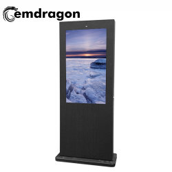 Android kiosque de l'écran LCD Air-Cooled vertical de la publicité extérieure de la machine au sol-1 49 pouces LCD Bus vidéo publicitaire de l'affichage TFT Cadre Photo d'enregistrement vocal