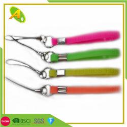 Teléfono móvil de silicona personalizadas Accesorios correas de PVC blando Llavero con diferente color (265)