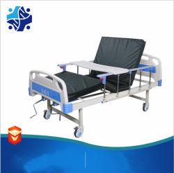 Manuel Sickbed Two-Crank avec garde-corps en alliage aluminium Hôpital bon marché