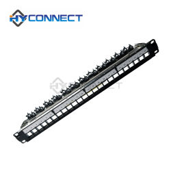 Em Branco FTP Patch Panel com bar, 24 Port