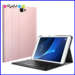 Étui en cuir Smart clavier Bluetooth pour iPad Samsung Galaxy Tab un 10.1