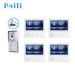 Китай на заводе 2-проводной дверей Bell Интерком видео дверь номер телефона для Вилла