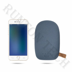 Chargeur rapide de taille mini portable Cute Banque d'alimentation RT-U17 peut imprimer Logo