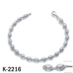 В минималистском стиле Fashion украшения 925 серебристые или латунной Pearl браслеты