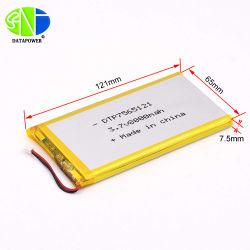 3.7V Batterij Lipo 7565121 van het Polymeer van Li van 8000mAh de Ionen de Beste Batterij van Lipo van de Kwaliteit