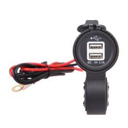 De waterdichte Lader van de Telefoon van de Macht van Soc Ket van het Handvat USB van de Motorfiets met de Lijn van 60 Cm